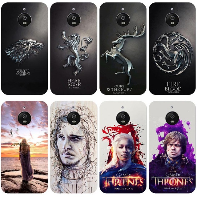 the best attitude 26803 c1a22 US $2.39 20% OFF Game of Thrones Printed Case for Motorola Moto E4 Plus  Back Cover silicone Bag Skin Case Cover for Moto E4 Plus XT1770 XT1773-in  ...