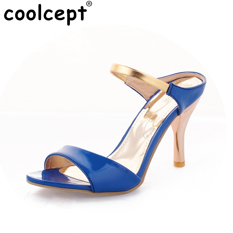 Plus Big size 34-43 Sexy High Heels Women Gladiator Sandals New Arrivals Open Toe Less Platform Party Weddig Summer Shoes new 2016 sexy gladiator ankle straps high heels fashion brand women sandal summer mixed colors open toe sandalias big size 34 43