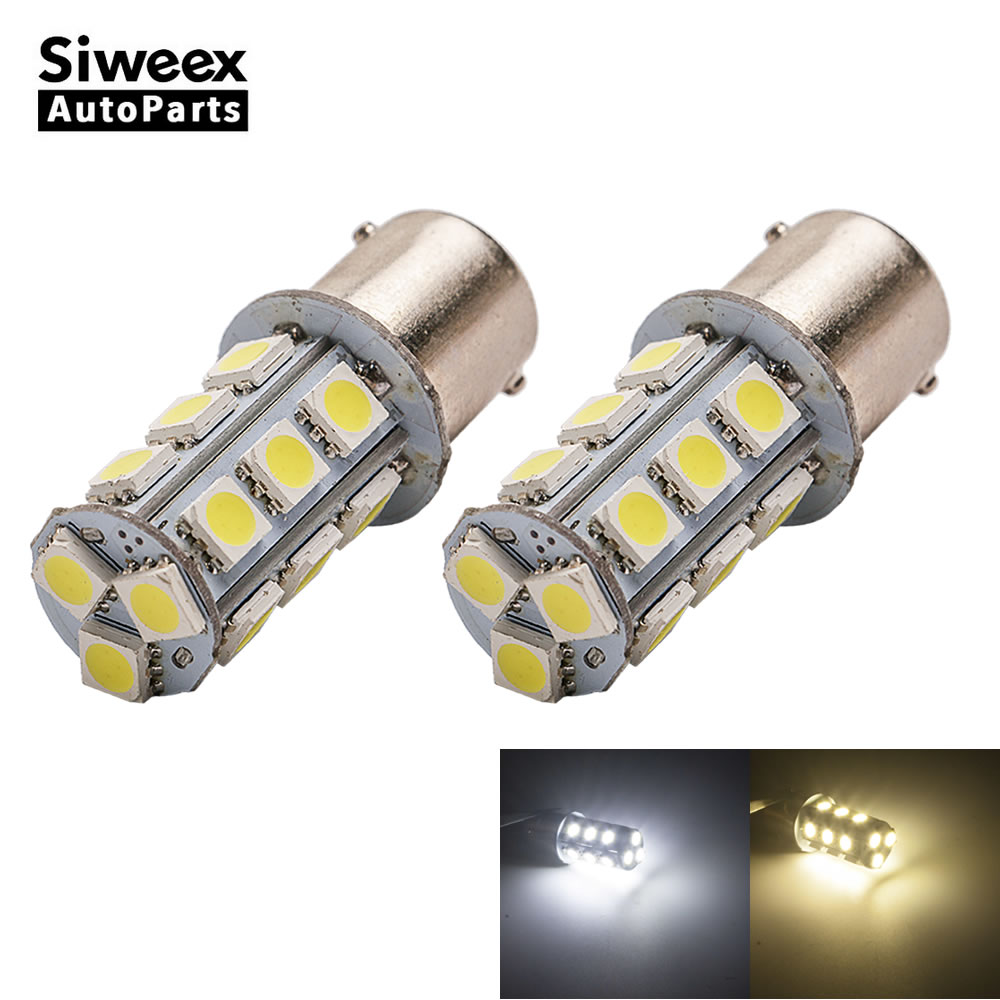 2 Pcs/Lot BA15S 1156 Car LED Light 18 SMD 5050 Dome Backup Brake Lamp Turn Signal Tail Reverse Bulbs DC 12V Warm White/White фараон