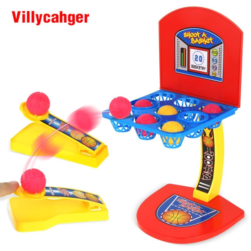 Mini Basketball Desktop Family Game Basketball Shooting Funny Toys Hoop Games Set Educational Toys For Kids Birthday Gifts