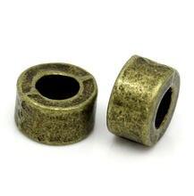 DoreenBeads de metal de Zinc cuentas separadoras de aleación bronce antiguo redondo de 6,0mm( 2/8