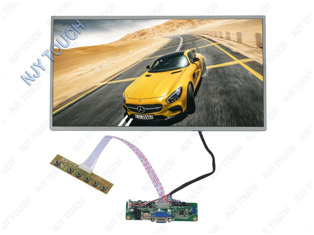 Free Shipping V.M70A VGA LCD Controller Board Kit Plus 15.6 inch LP156WH4(TL)(A1) 1366x768 LED Screen цены