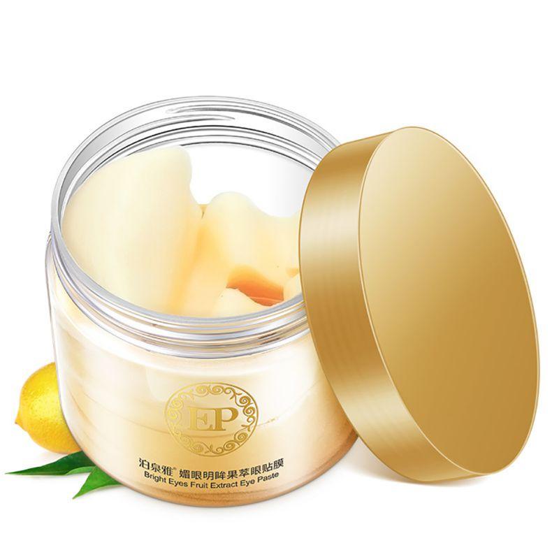 BIOAQUA 60PCS Eye Mask Lemon Essence Fruit Extract Moisturizing Lift Firming Anti-Aging Anti-Puffiness Dark Circles Skin Care 15