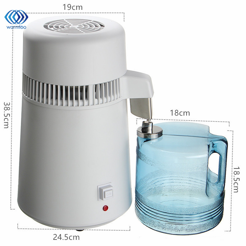 EU Plug 220V 750W Distilled Water Machine With Stainless Steel Blind Cover Pure Purification Purifier Filter Equipment