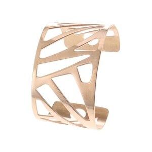 Image 3 - أساور و أساور من Cremo واسعة من الجلد قابلة للتبديل أساور من الفولاذ المقاوم للصدأ للنساء أساور من الصلب