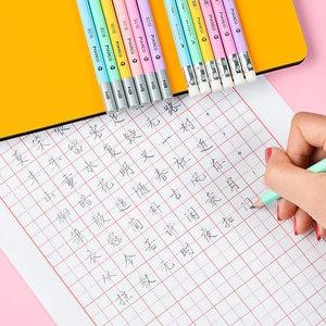 Image 3 - Makro Lapices öğrenciler Kawaii kalem renkli altıgen kalem 2B HB yazma kalemler Lapices silgi ile güvenli toksik olmayan Papeleria