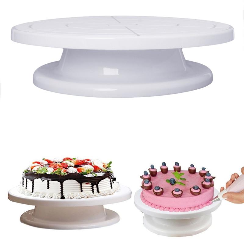 "2018 new 11"" rotating plate revolving decorating cake"