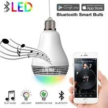 Smart Wifi Speaker Wireless Bluetooth LED Light Bulb Louderspeaker E27 Home Wifi APP Control Music Player Led Speaker For Phone стоимость
