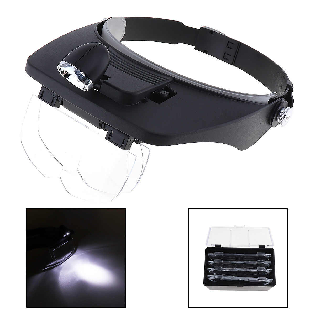 cb4f7fd4efee Detail Feedback Questions about Head Magnifying Glasses with LED 10 Power  Magnifier for Reading Optivisor Magnifying Glass Loupes Jewelry Watch Repair  3 ...