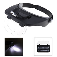 Head Magnifying Glasses With LED 10 Power Magnifier For Reading Optivisor Magnifying Glass Loupes Jewelry Watch