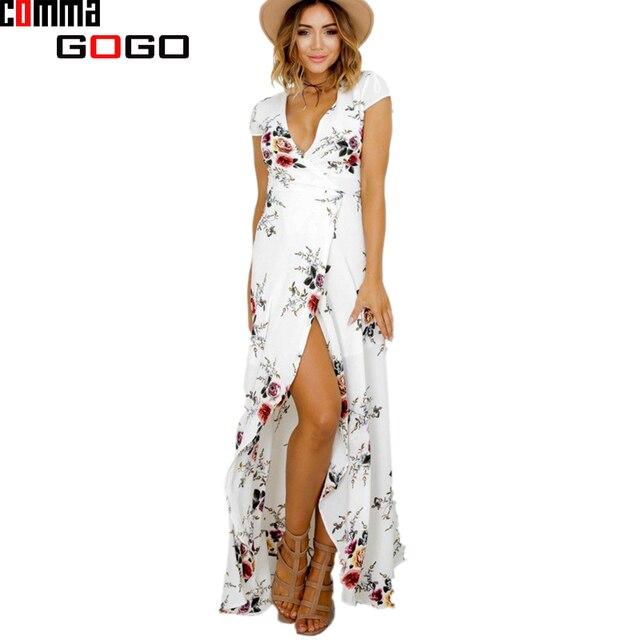 Aliexpress.com : Buy 2017 Summer Women Long Beach Dress Floral ...