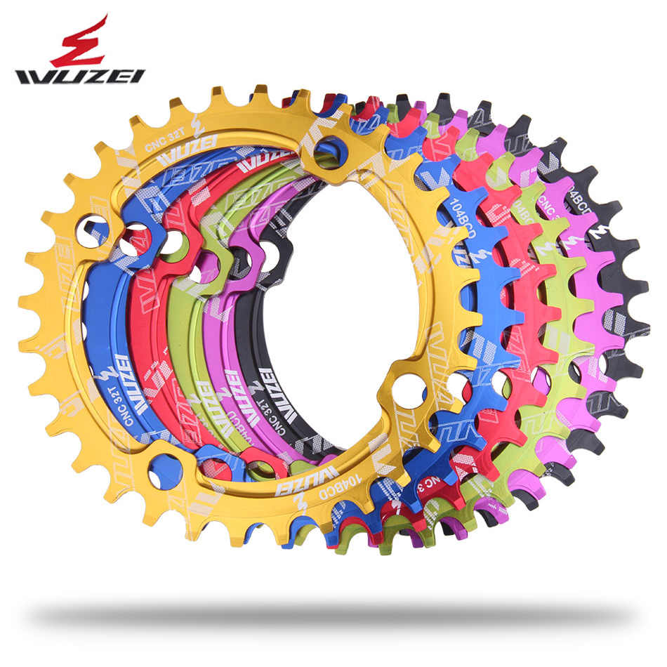 Single 1 speed system Narrow Wide 104 BCD ROUND 32T 34T 36T 38T for MTB 11s 10s 9s 1*<font><b>11</b></font> Crankset Chainwheel Ring image
