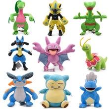 9 styles Anime Doll Pikachu Snorlax Zeraora Grovyle Bagon Lucario Cartoon Stuffed Peluche Plush Toy Christmas Gift For Children