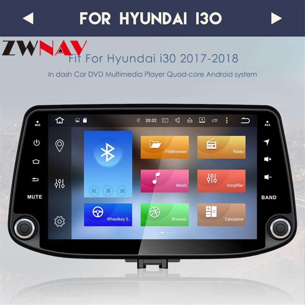 Наивысшего качества 4 г + 32 г Octa 8 ядра android 8,0 автомобильный dvd для hyundai i30/I30 2016 2017 мультимедиа автомобилей радио gps навигации
