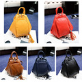 RU&BR Fashion Ladies Backpacks Casual High Quality PU Leather Backpack Bag Campus Women Solid Color School Bags Travel Bag