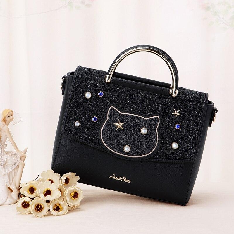 Femininas Bag 2017 New Handbag Fashion Handbag Leisure Cat All-match Satchel Bag In Japan And South Korea