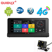 QUIDUX 7″ 1080P Android 5.1 4G WIFI GPS Navigation Car Dvr Camera with Dual lens Dash Board Video Recorder Registrar Dash Cam