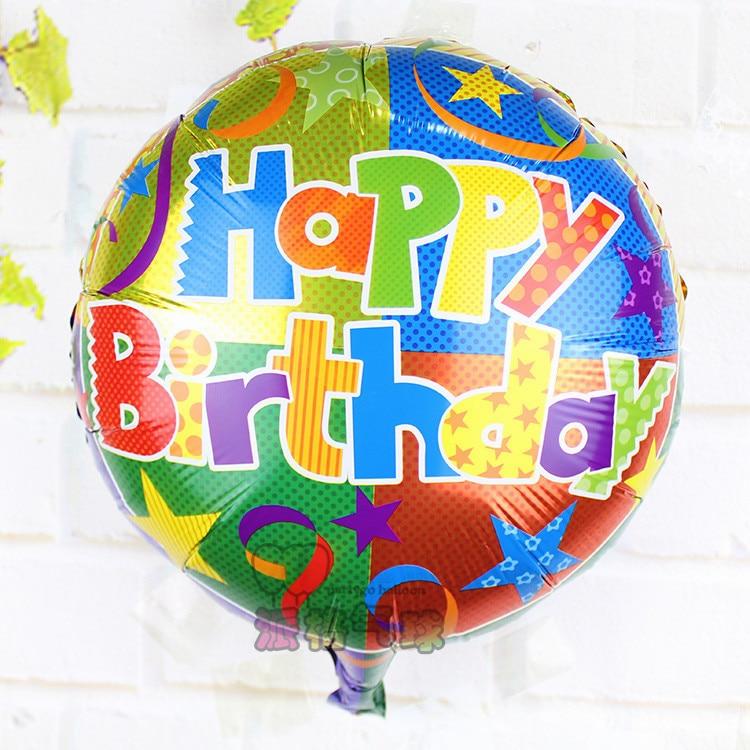 wholesale 30pcs/lot happy birthday Balloons 18inch Party mylar Balloon Cartoon Baby Toys Ballons