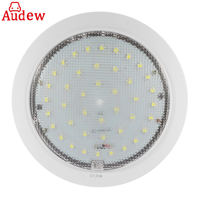 1Pcs 42LED Cool White Roof Ceiling Interior Reading Dome Light For Camper Car RV Boat Trailer