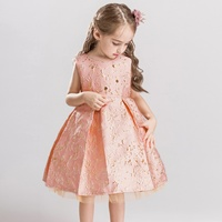 Fashion Baby Girls Bronzing Dress Kids Embroidered Princess Party Sequins Mesh Wedding Bridesmaid Tulle Ball Gown