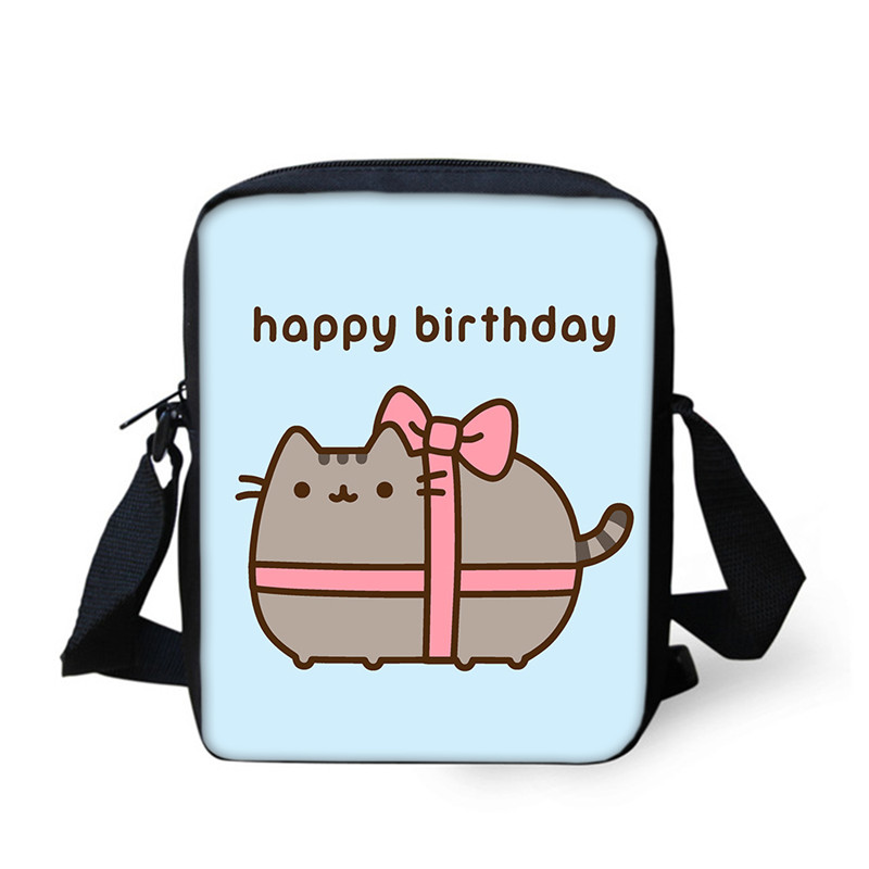 Cute Pusheen Cat  Mini Messenger Bags For Women Girls Shoulder Bag  3D Printed Crossbody Bags Casual School Bags Birthday Gifts