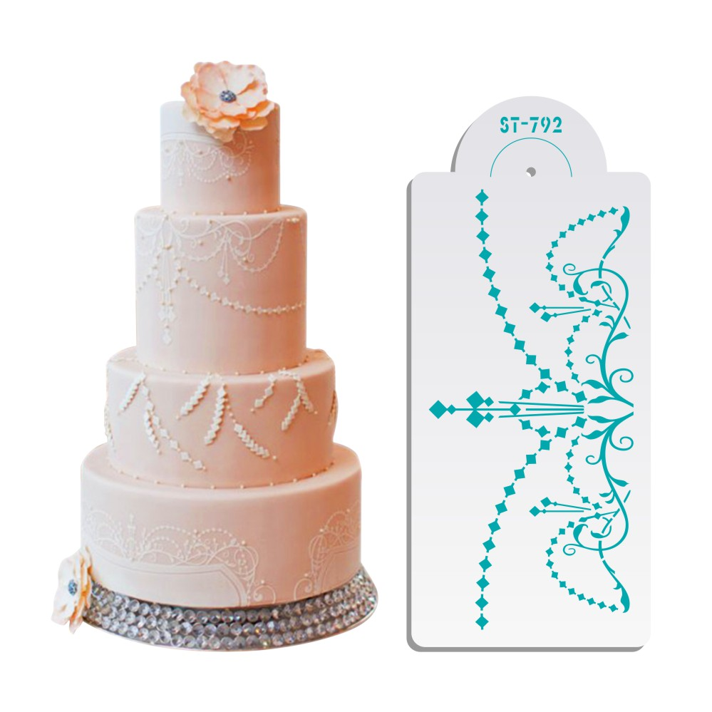 wedding cake making tools sugarcraft chandelier cake stencil cake decorating tools 23218