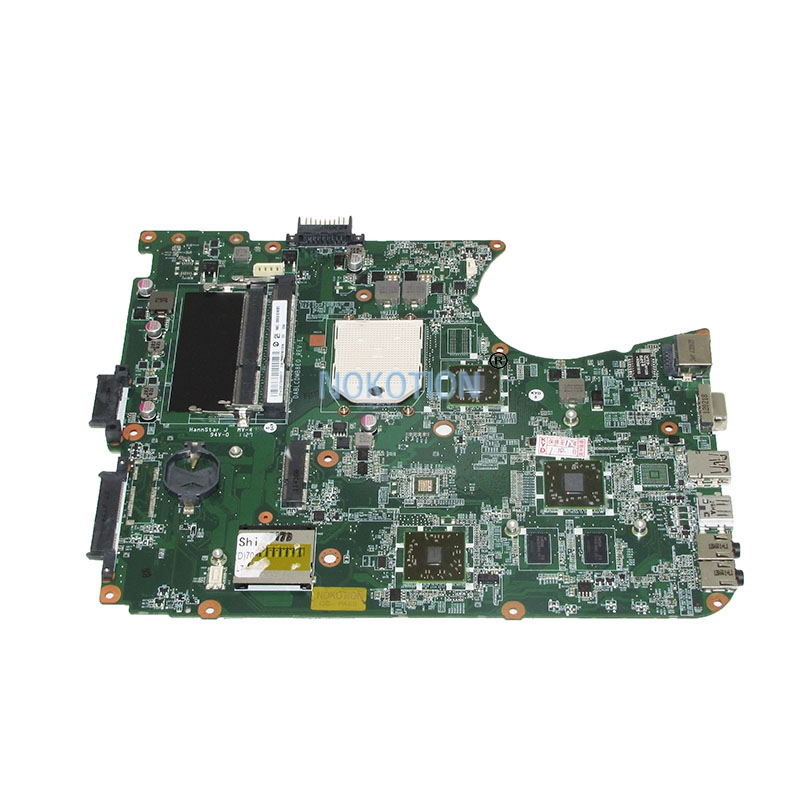 NOKOTION DABLCDMB8E0 A000080700 Laptop Motherboard For Toshiba satellite Satellite L750D L755D Main Board Socket s1 Free cpu nokotion genuine h000064160 main board for toshiba satellite nb15 nb15t laptop motherboard n2810 cpu ddr3