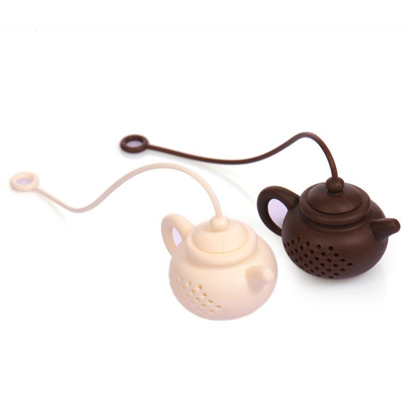 ادارة الاغذية والعقاقير الصف سيليكون infusers حقيبة إبريق الشاي شكل ورقة مصفاة تصفية أدوات المطبخ الأدوات