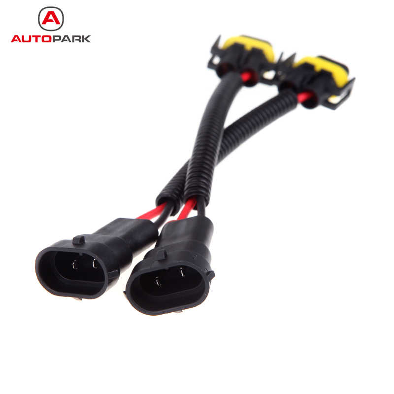 2 pcs H8 H9 H11 Mobil Wiring Harness Socket Kawat Konektor Kabel Plug Adapter untuk HID LED Foglight Head Light Bulb Led cahaya