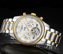 40mm zegarek Sangdo Business automatyczne self wiatr ruch szafirowe mechaniczny wielofunkcyjny zegarek męski 033SD|Zegarki mechaniczne|Zegarki -