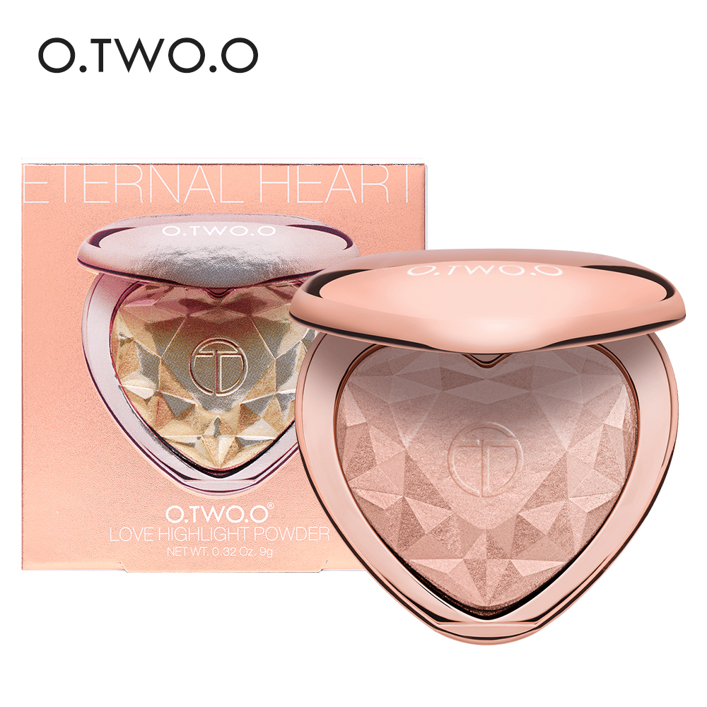 цены O.TWO.O Shimmer Highlighter Powder Palette Face Contouring Makeup Highlight Face Bronzer Highlighter Brighten Skin 4 Colors