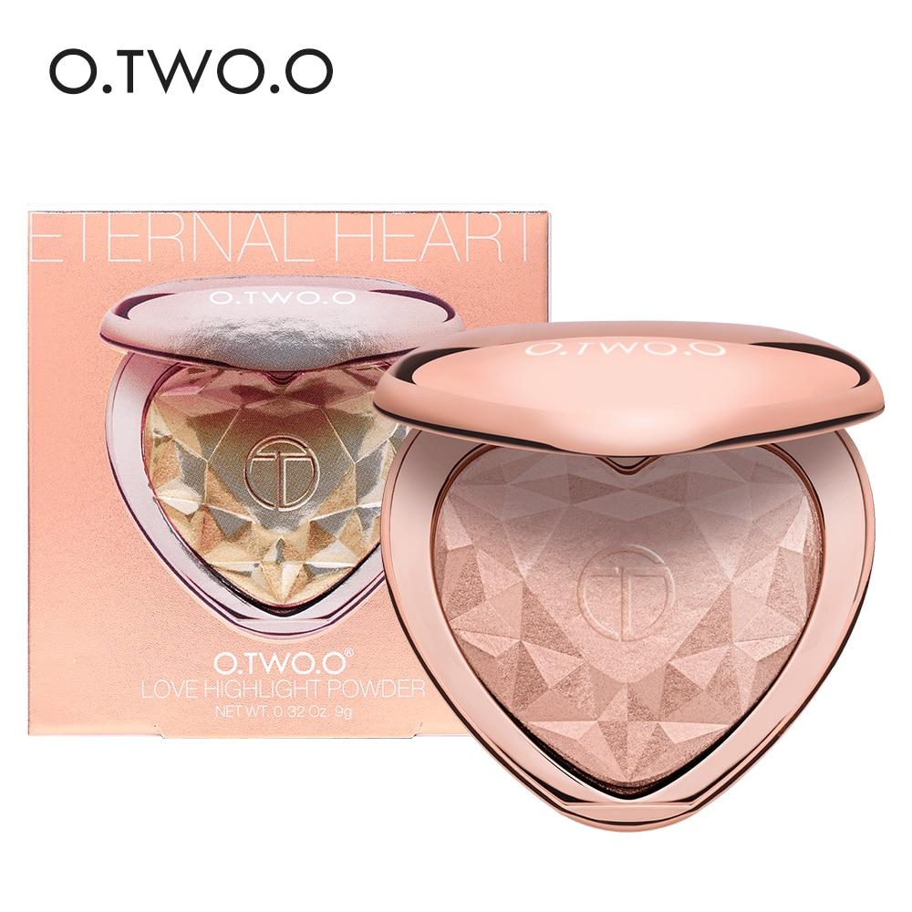 O.TWO.O Shimmer Highlighter Powder Palette Face Contouring Makeup Highlight Face Bronzer Highlighter Brighten Skin 4 Colors