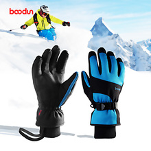 Ski Gloves Windproof Fleece Thermal Heated Gloves Touch Screen Snowboard Snowmobile Gloves Men Women Winter Gloves For Skiing