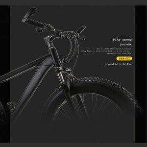 Image 2 - זאב של פאנג אופניים הרי אופני 21 מהירות אלומיניום סגסוגת מסגרת שומן אופני שלג אופני קדמי ואחורי מכאני דיסק brade זכר
