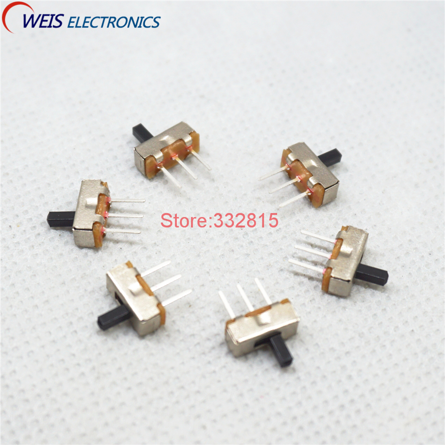 100PCS SS12D00 SS-12D00 4MM 3MM 5MM 1P2T toggle switch Interruptor on-off mini 1 Way 2 Band Slide Switch PCB Mount Free shipping import sample box encoder band switch toggle self lock free shipping
