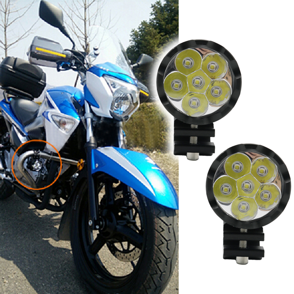Pair Super Bright High Power Motorcycle Led Light Fog Spot White Headlight Working Light DC 12V 24V External Passing Lighting