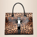 Outnice! Luxury Leopard Top-handle Bgas Female Designer Handbag Hobo Patent Leather Stella Bag canta sac a main femme de marque