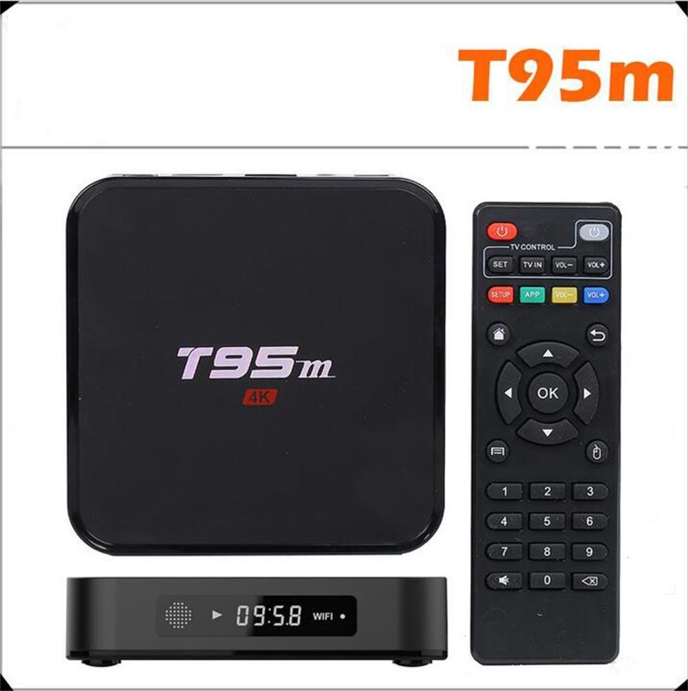 T95M Quad Core Amlogic S905 64bit UHD 2K 4K IPTV HDMI 2 0 KODI 1G 8G