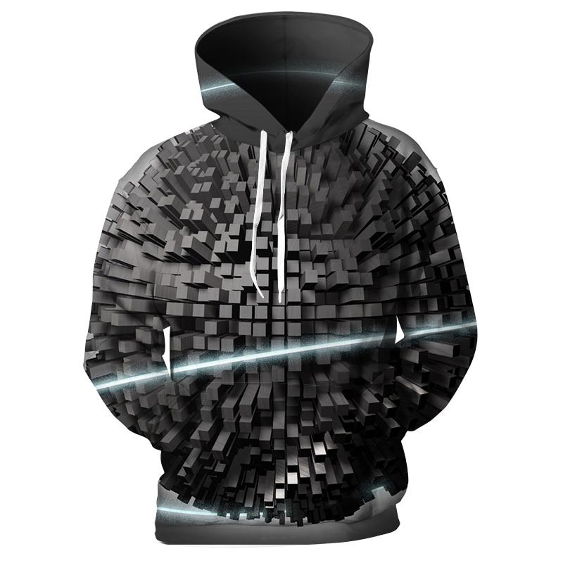 Cloudstyle New Design 3D Hoodies Men Print Pillar Vertigo Sweatshirts Loose Pullovers Hip Hop Unisex Streetwear Hoodie Homme 5XL