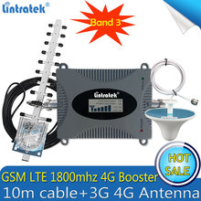 مقوي إشارة خلوي 2G 4G LTE 1800mhz LTE روسيا من Lintratek مقوي إشارة خلوية GSM مكرر 4G مكبر للصوت DCS LTE 1800 هوائي 4G
