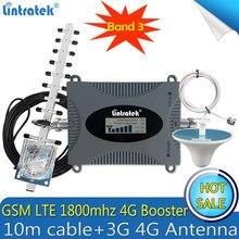 Lintratek rússia lte 1800mhz 2g 4g celular sinal impulsionador gsm repetidor 4g amplificador dcs lte 1800 amplificador 4g antena