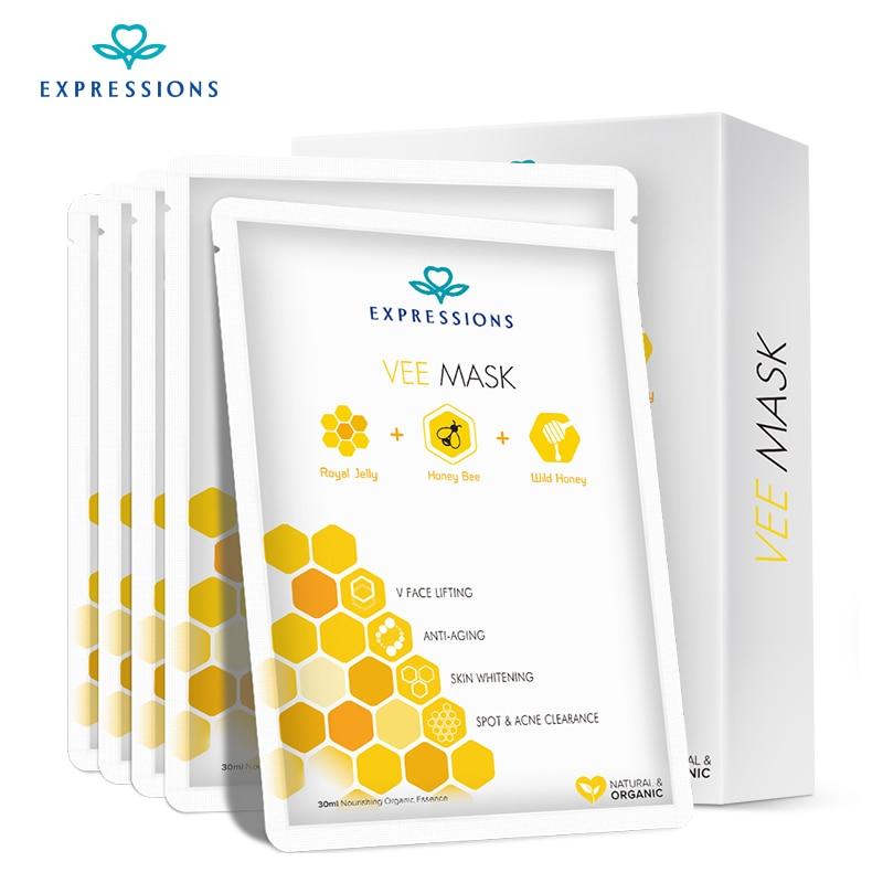 Arc maszk Honey Bee Vee maszk az arc akne glicerin koreai kozmetikumok bőrápolás szépségápolási termékek méz méh Venom holika
