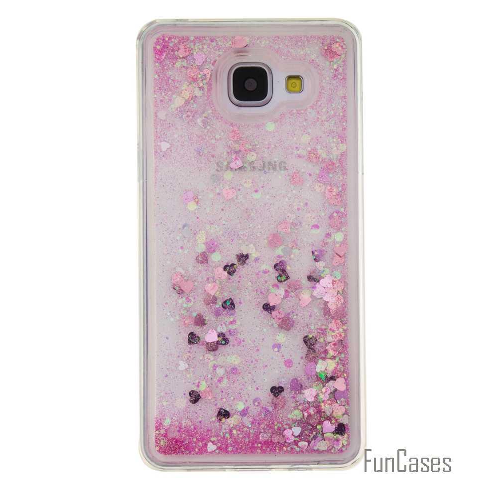Coque בלינג אהבת לב כוכבים רך TPU טלפון Case כיסוי עבור סמסונג גלקסי A510 Funda חול טובעני טלפון מקרה עבור סמסונג a5 2016 (&
