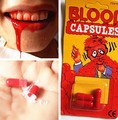 120pack Jokes Horror Funny Halloween Fancy Dress Toy Fake Blood Pill Vampire Capsules Party April Fool Joke Funny Gags Trick Toy