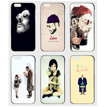 Lotezly Luxury Cartoon Couple Phone Case For iphone 7 Leon Mathilda Phone shell pattern Diy The Professional Case for iphone 6(China)