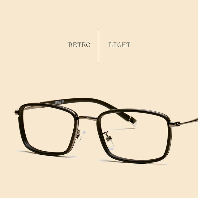 bd48205405a LIYUE Fashion men optical glasses Style vintage eyeglasses clear Computer  glasses Prescription eyewear Spectacles Frame
