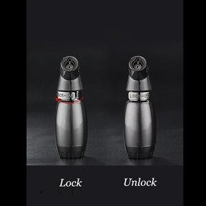 Image 3 - Hot Compatto Butano Getto Più Leggero Torcia Turbo Fuoco Accendino Fuoco Pistola A Spruzzo Antivento In Metallo Tubo di Sigaro Accendisigari 1300 C NO GAS