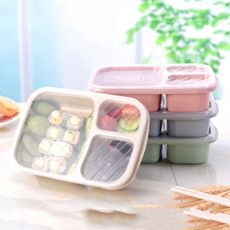 Portable Microwave Lunch Box 3 Food Container Storage Box Dinnerware Outdoor  Travel Bento Lunch Box For ...