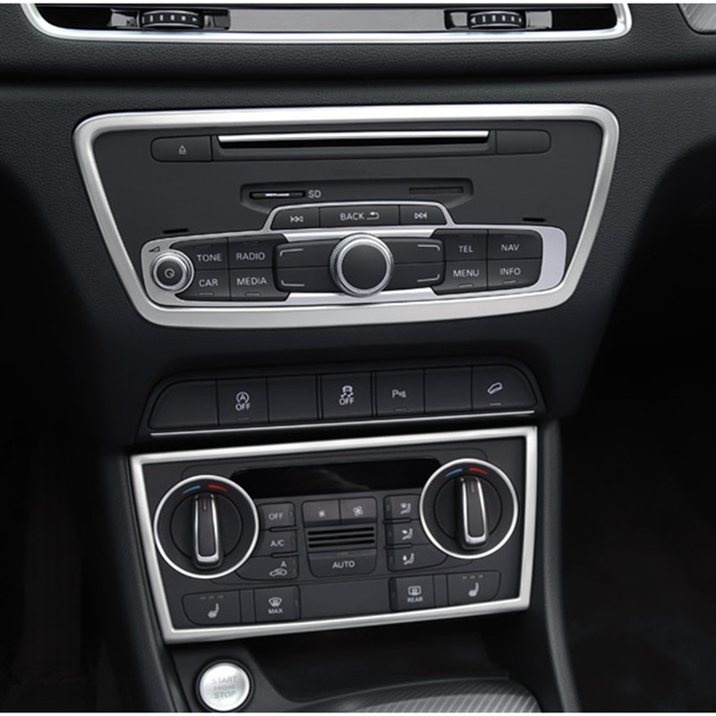For Audi A4 B8 2008-2015 Stainless Steel Interior Gear Box Panel Cover Trim 1pcs