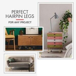 Image 5 - 4Pcs 6 หรือ 7 นิ้ว Hairpin ขาติดตั้งขาโลหะสำหรับเฟอร์นิเจอร์ MID Century Modern ขาสำหรับกาแฟและ End โต๊ะเก้าอี้